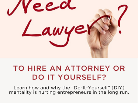 Why Should You Hire a Lawyer Instead of Doing it Yourself?