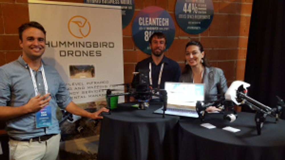 Ms. Grady and the founders of Hummingbird Drones at Vancouver Startup Alley