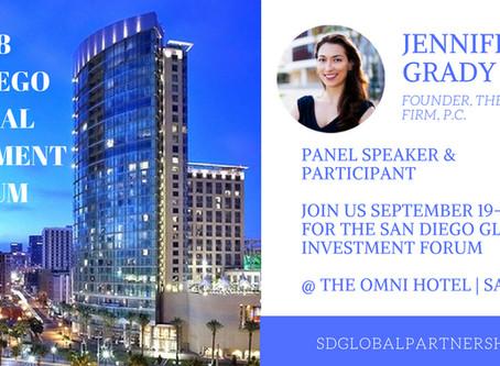 Jennifer Grady, Esq. Speaks at San Diego Global Investment Forum on Immigration Options for Investor