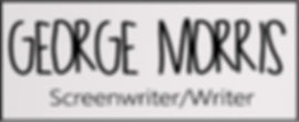 George Morris Screenwriter Handwriten Logo
