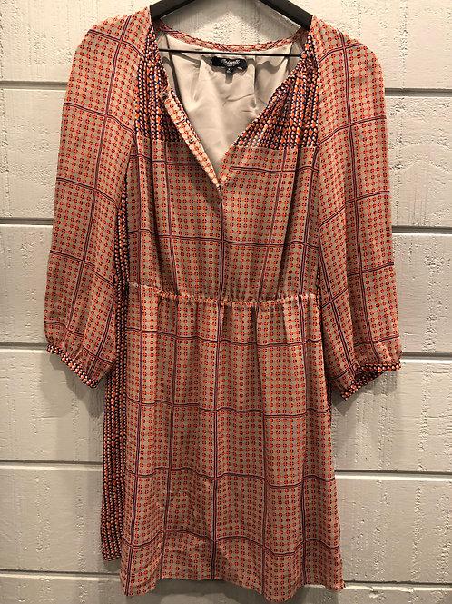 8 Madewell Retrogrid Silk Dress
