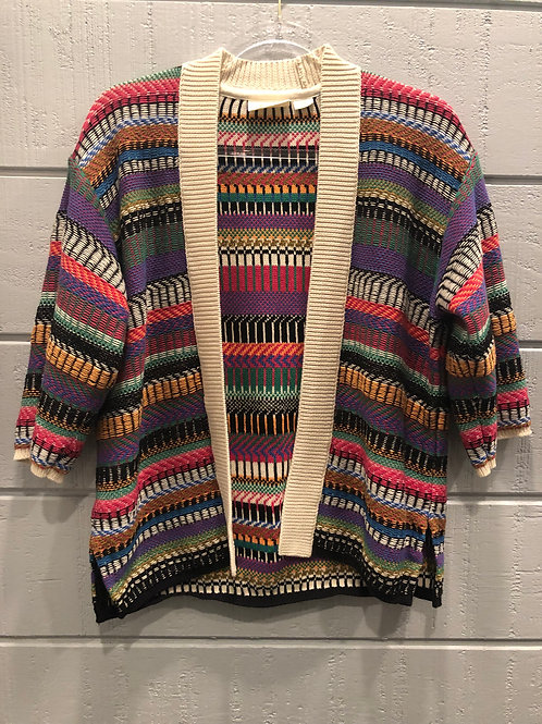 XS-M Maeve by Anthropologie Multicolor Oversized Cardigan