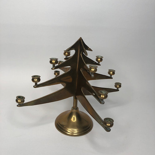 Brass Tree Candle Holder
