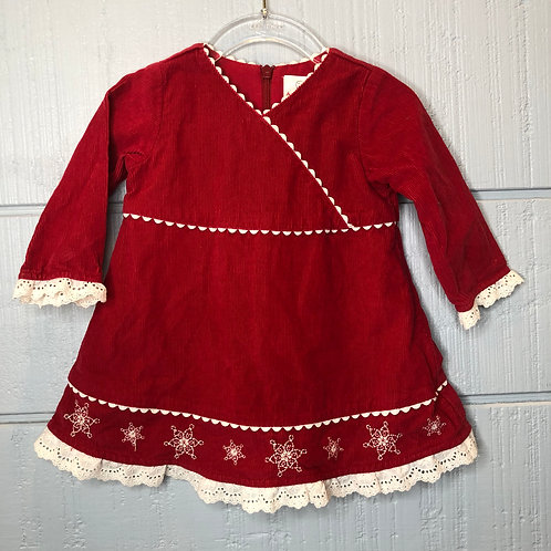 70/6-12m Hanna Andersson Long Sleeve Snowflake Dress