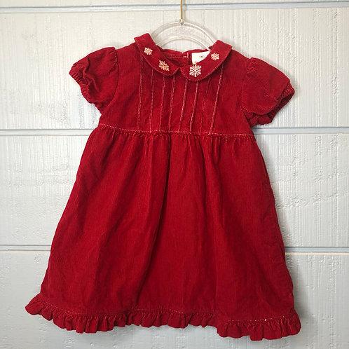 80/2 Hanna Andersson Short Sleeve Corduroy Dress