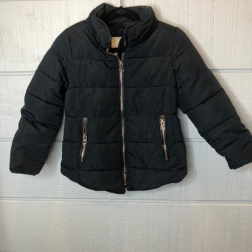6 Zara Girls Dark Navy Puffer Coat