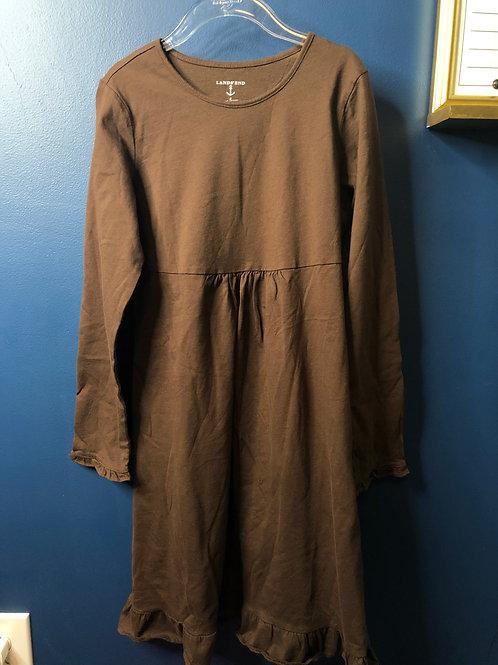 8 Lands End Brown Knit Dress