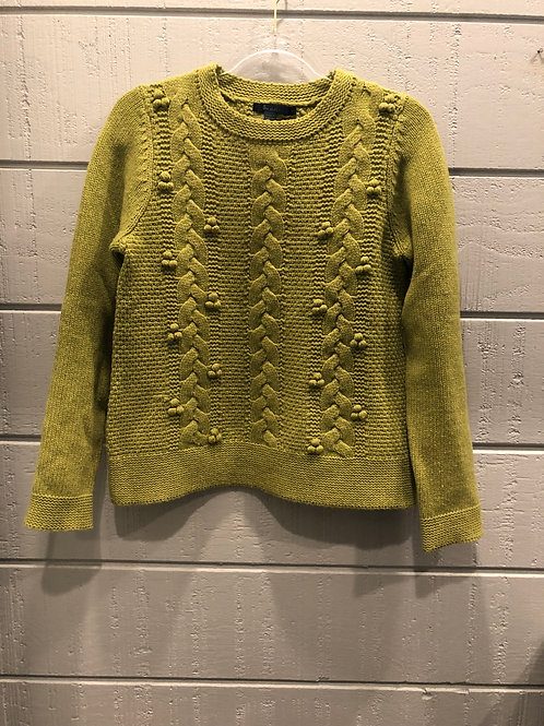10 (UK 12) Boden Green Cable Knit Sweater