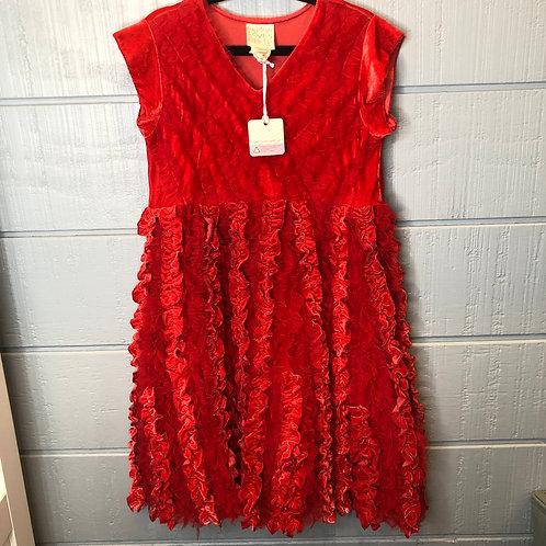 10 Lemon Loves Lime Red Dress NWT