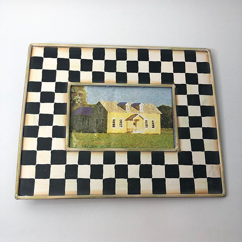 New Metal Checkerboard Frame- Mackenzie Childs Dupe