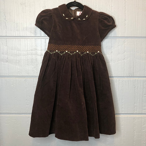 4 Emily Lacey Brown Smocked Dress