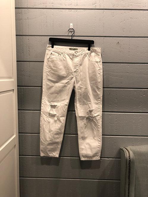 30w Topshop Hayden White Moto Jeans