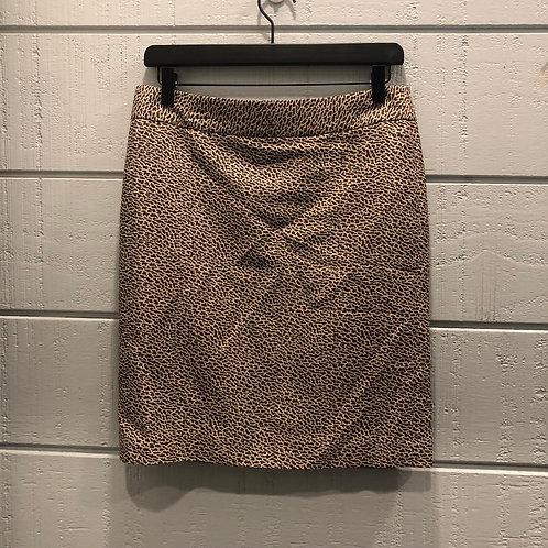 6P Loft Animal Print Pencil Skirt