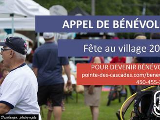 Appel de bénévoles - Fête au village 2016