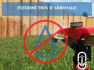 Information - interdiction d'arrosage