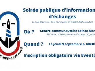 SOIRÉE PUBLIQUE D'INFORMATION