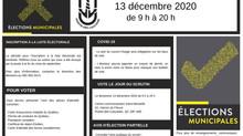 ÉLECTIONS MUNICIPALES | 13 décembre 2020
