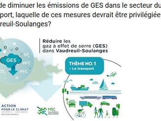 Réduction des GES - Thème no1 : Transport