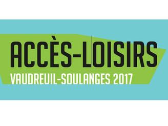 Accès-loisirs | Vaudreuil-Soulanges 2017
