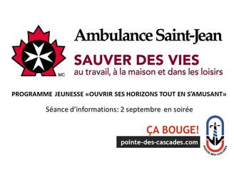 Ambulance St-Jean - Programme jeunesse