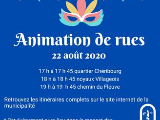 ANIMATION DE RUES | 22 AOÛT 2020