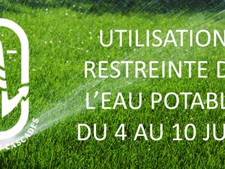 Opération de redéveloppement des puits de captage d'eau du 4 au 10 juin