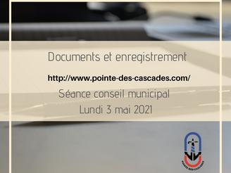 SÉANCE DU CONSEIL MUNICIPAL |documents