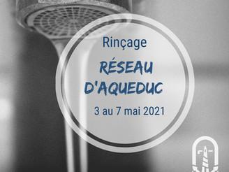 Rinçage du Réseau d'aqueduc | la semaine du 3 mai 2021