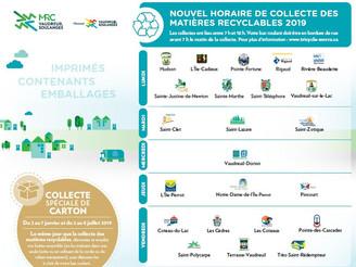 Collecte des matières recyclables 2019