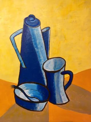 Coffee Pot with Spork