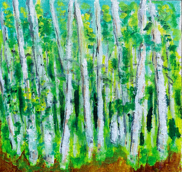 Aspen grove, Bishop Creek