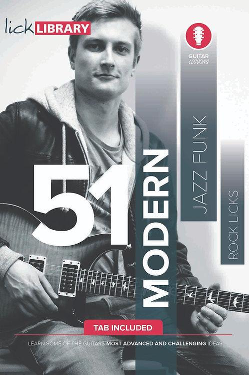 51 Modern Jazz Funk Rock Licks Tutorial