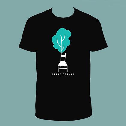 T-shirt NOIR  - Grise Cornac