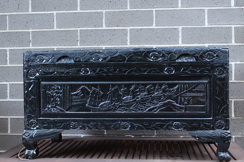 Hand carved Wooden Chest