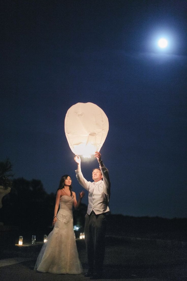 Sky Lanterns and Summer Wedding Decor - Wedding Favors - Wish ...