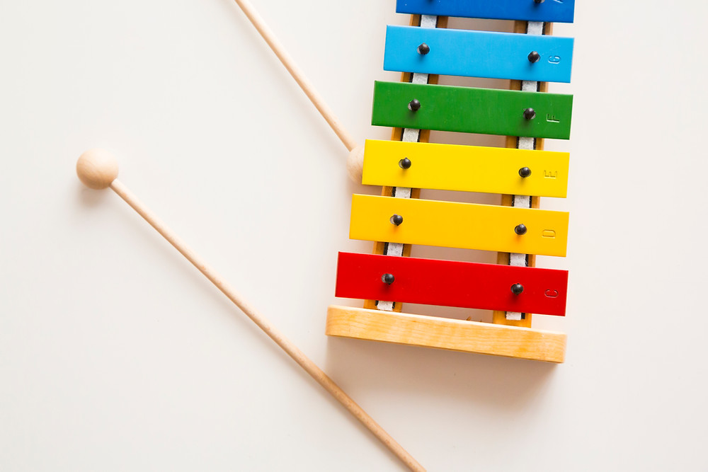 xylophone, music, sensory play