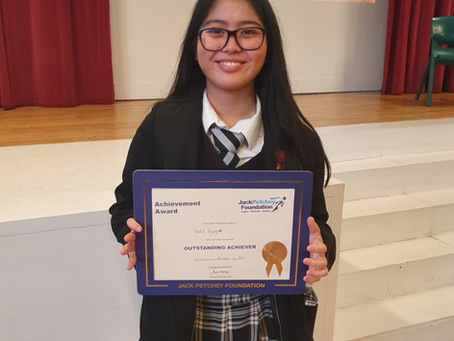 Jack Petchey Award Winner