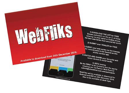 Webfliks Promo Postcard