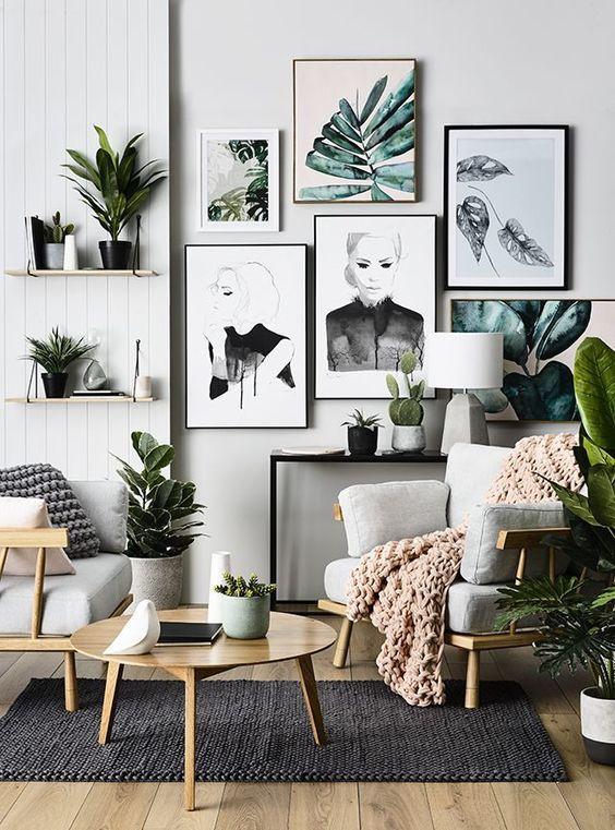 Leaf prints, Wall art