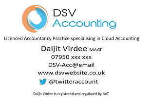 DSV Accounting Business Card