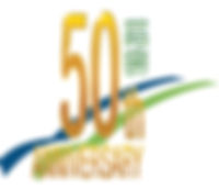 PW White 50th Anniversary Logo