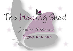 The Healing Shed Busness Card