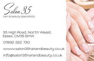 Salon 35 Business Card