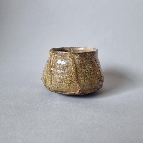 Teabowl 1 shino and ash