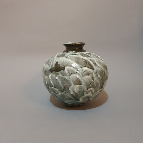 vase dark clay porcelain and celadon