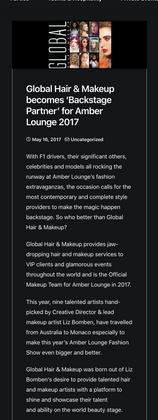 Official Beauty Partner, Global Hair & Makeup