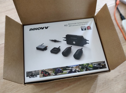 INNOVV K2 Motorcycle Camera System was installed on Triumph Street Triple 765 MY2018