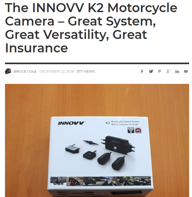 The INNOVV K2 Motorcycle Camera – Great System, Great Versatility, Great Insurance