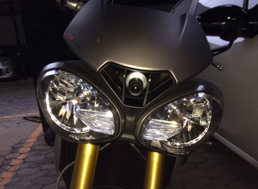 INNOVV C5 Motorcycle Camera System Was installed on  Triumph Speed Triple R / Year: 2016