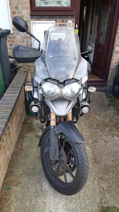 INNOVV Motorcycle Dashcam K1 Installed on Triumph Tiger Explorer 1200